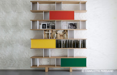 bibliotheque nuage design by Charlotte Perriand