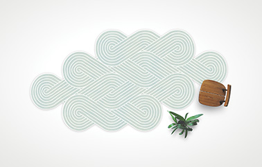Aiki Tribu carpet design by Samuel Accoceberry