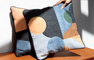 Jacquard pillow design by Coco Brun