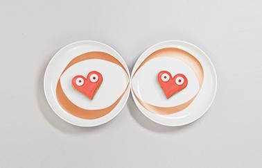 porcelain plates design by Ich&Kar
