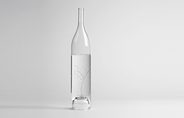 glass carafe Tree for 2 design by Marianne Guedin