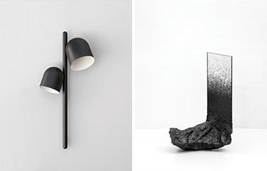 lampe Grappe et miroir Fusion mirror design by Ferréol Babin