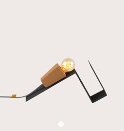 Lampe magnétique GLINT  - #1 noir base et fil noir