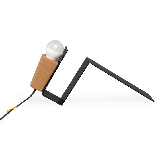 GLINT | magnetic desk lamp - #1 black base and black wire - Design : Galula Studio