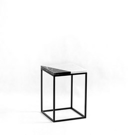 BLACK CUT Pillar side table