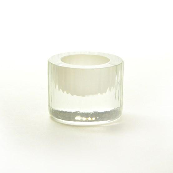Coquetier - Collection Moire - ivoire  - Design : Atelier George