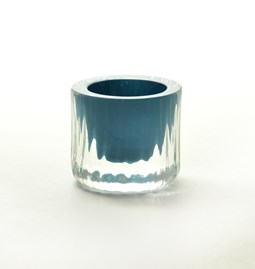 Egg cup - Collection Moire - turquoise