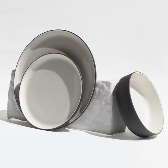 Set de table, 18 pièces | gris anthracite - Design : Archive Studio