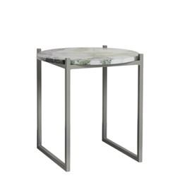 LULU side table - lotus green marble