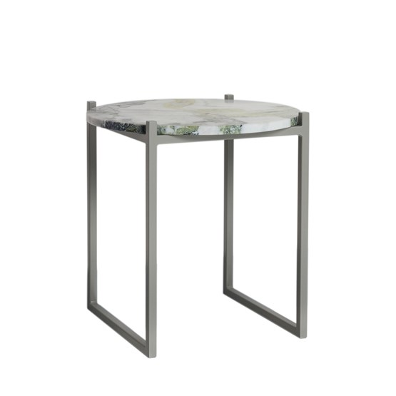 LULU side table - lotus green marble - Design : JOHANENLIES