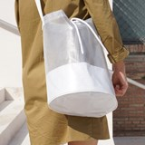 Cylindrical Carrier Bag - White 5