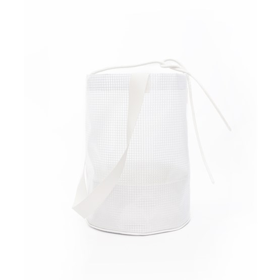 Cylindrical Carrier Bag - White - Design : Murmull