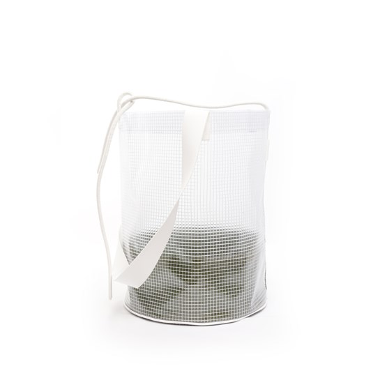 Cylindrical Carrier Bag - Green - Design : Murmull