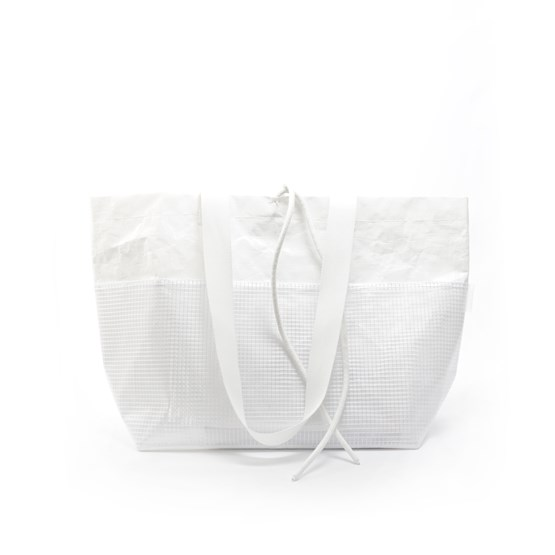 Rectangular Carrier BAG - White - Design : Murmull