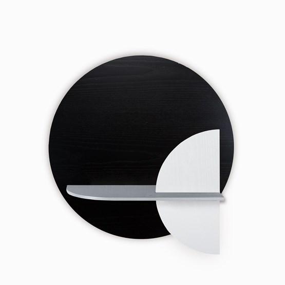 Etagère murale ALBA M ronde - noir/gris/blanc - Design : WOODENDOT