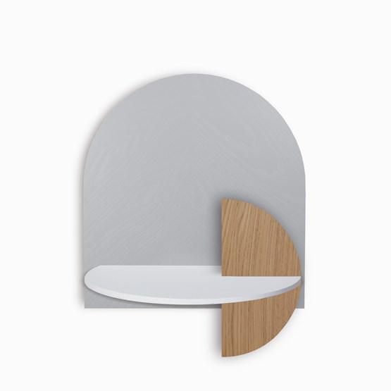 ALBA L Bedside table - grey/white/oak - Design : WOODENDOT