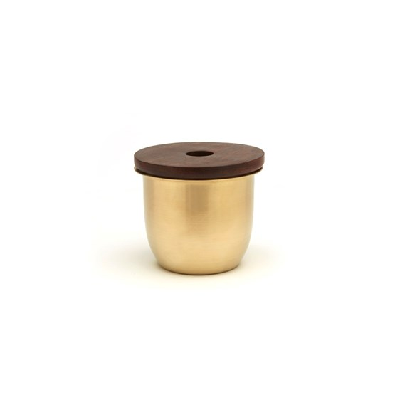 C3 Small Container in Brass with Wood Lid - Design : Grace Souky