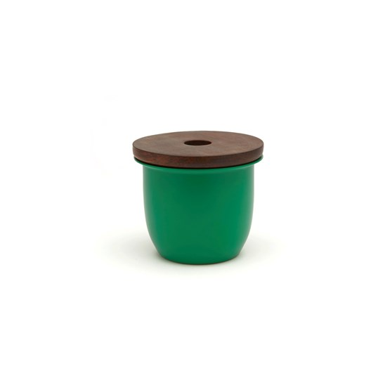 C3 Small Container Green with Wood Lid - Design : Grace Souky