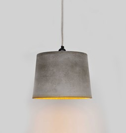 INDUSTRIAL pendant light with Rust Coloured Rim