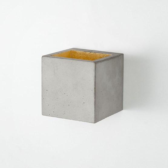 Wall light CUBIC - grey - Design : GANTlights