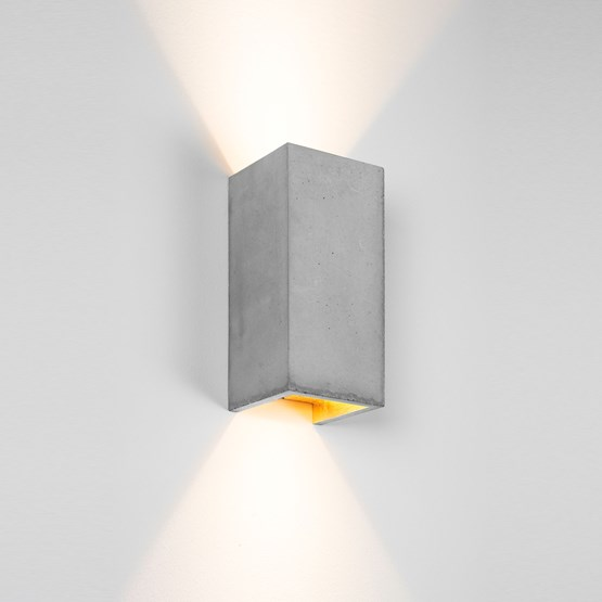 Rectangular Wall Light [B8] - grey - Design : GANTlights