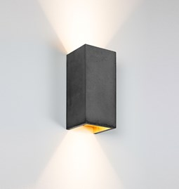 Rectangular Wall Light [B8] - dark grey