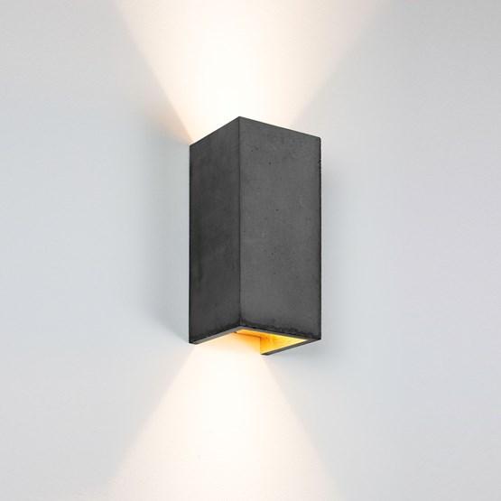 Rectangular Wall Light [B8] - dark grey  - Design : GANTlights