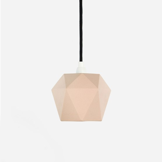 Pendant light triangle [K1]salmon - pink porcelain - Design : GANTlights