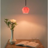 Pendant light triangle [K1]salmon - pink porcelain 4