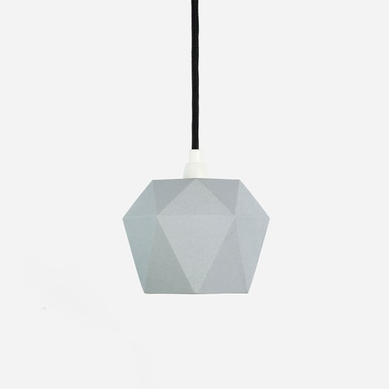 Pendant light triangle [K1]grey - grey porcelain - Design : GANTlights