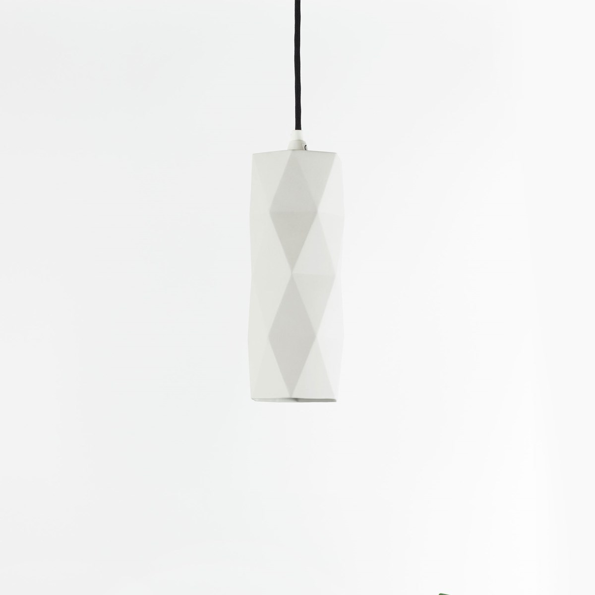 Pendant light triangle [K2] - white porcelain