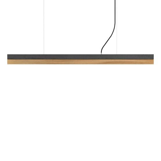 Suspension rectangulaire [C]dark/oak - anthracite/chêne - Design : GANTlights
