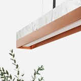 Rectangular Pendant Light [C2m] - marble/copper 4