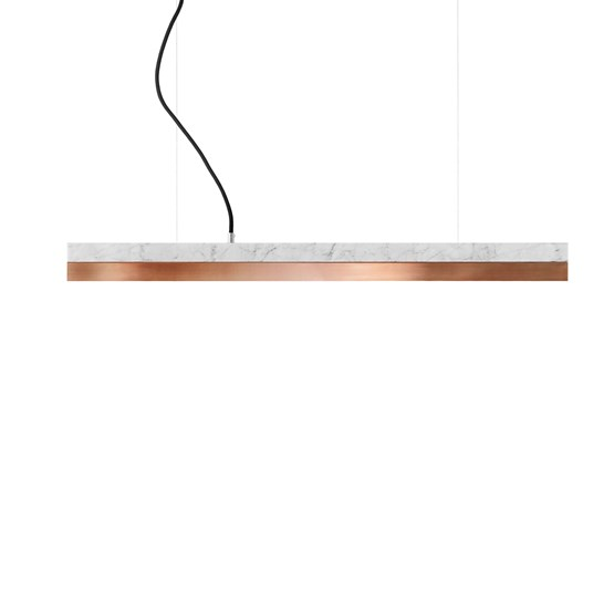 Rectangular Pendant Light [C2m] - marble/copper - Design : GANTlights