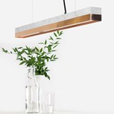 Rectangular Pendant Light [C2m] - marble/copper 6