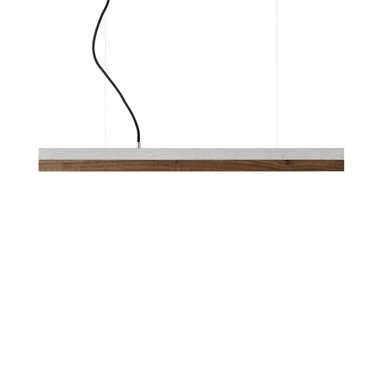 Suspension rectangulaire [C]nut - noyer - Design : GANTlights