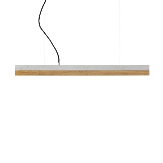 Suspension rectangulaire [C]oak - chêne - Design : GANTlights