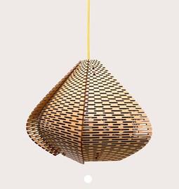 LUCIE wooden pendant light, small model