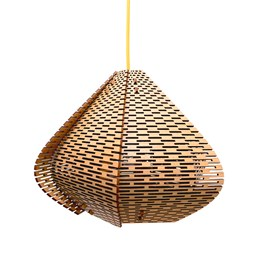LUCIE wooden pendant light, small model