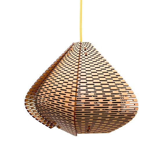 LUCIE wooden pendant light, small model - Design : WeBentWood