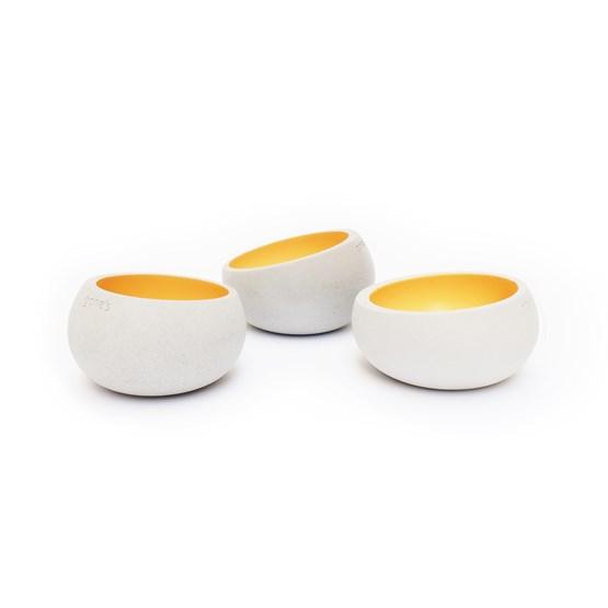 Photophores BRUT - Set de 3 - jaune - Design : Gone's