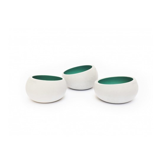 BRUT tealight holder - Set of 3 - Beryl green - Design : Gone's