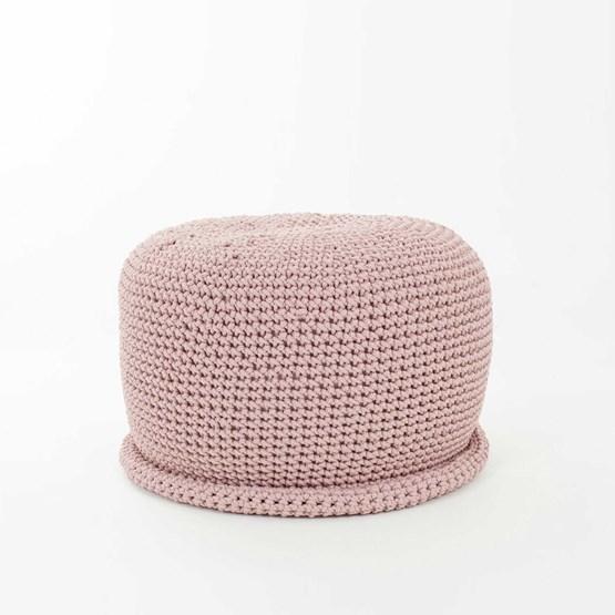 CAP Crocheted pouf - dusty pink - Design : SanFates