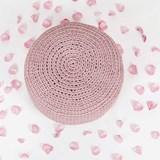 CAP Crocheted pouf - dusty pink 2