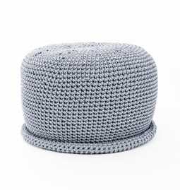 CAP Crocheted pouf - grey