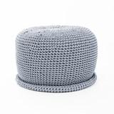 CAP Crocheted pouf - grey 2