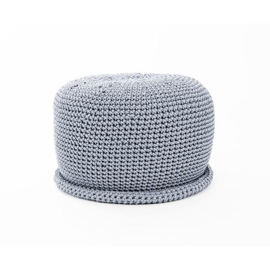 CAP Crocheted pouf - grey - Design : SanFates