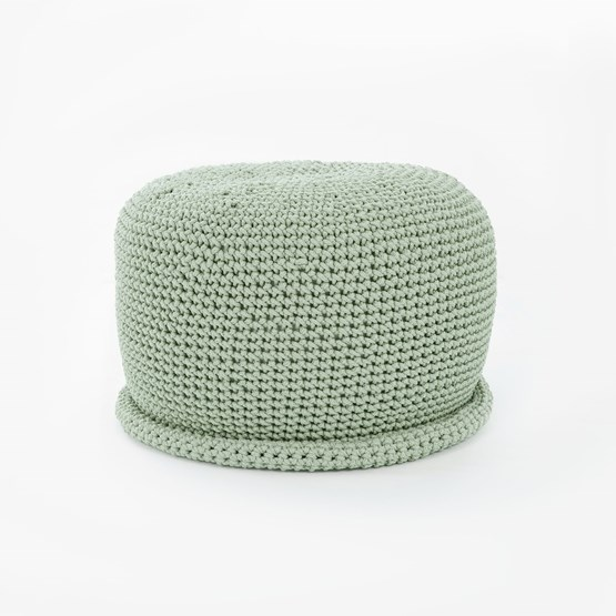 CAP Crocheted pouf - mint - Design : SanFates