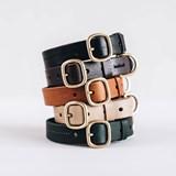 FIR leather dog collar - brown 5