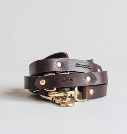LASSO Dog leather leash - brown